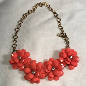 Coral J Crew bracelet/necklace